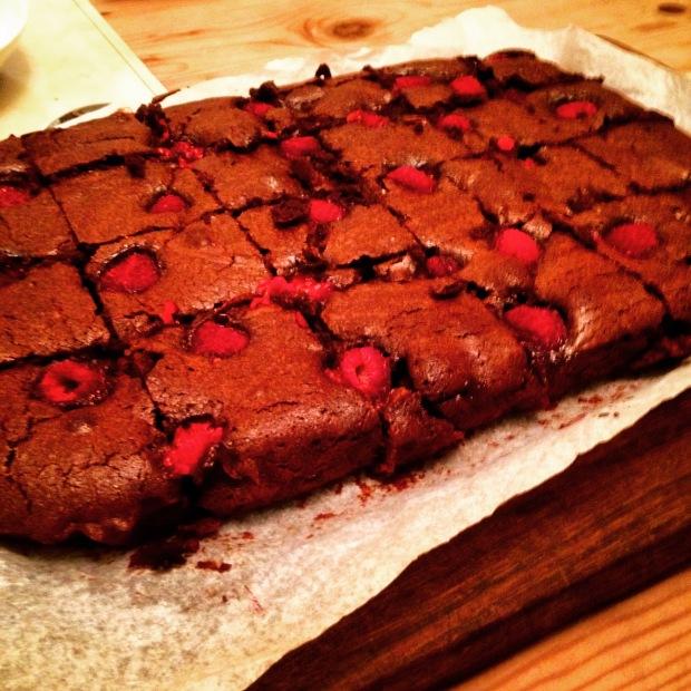 Dark Chocolate & Raspberry Brownies. 2015