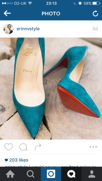 Turquoise Suede // Christian Louboutin