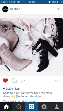 Collection of shoes // Boohoo